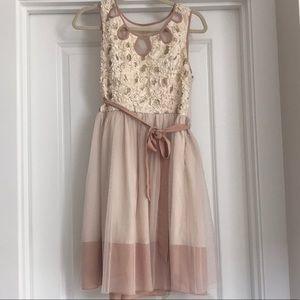 A'Reve Tulle Dress With Floral Appliqué (M)